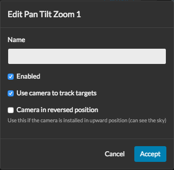 Configure your cameras to be available for auto-tracking